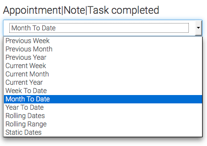 select the date range you would like to display the results in