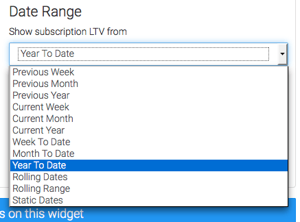 Select your date range.