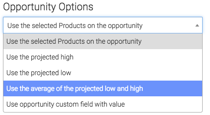 under opportunity options you can select whichever one is preferred