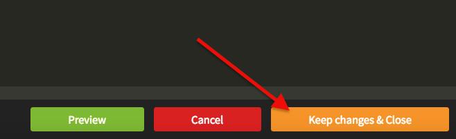 Click Keep changes & Close