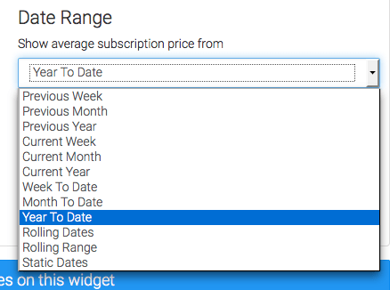 Next, set your Date Range. I'll choose Year to Date, and group it by Months as the interval.