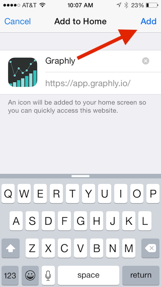 "Select ""Add"" In the upper right corner."