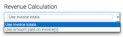 Select how you want the revenue to be calculated.