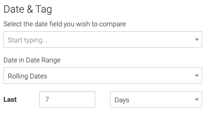 date field and date range