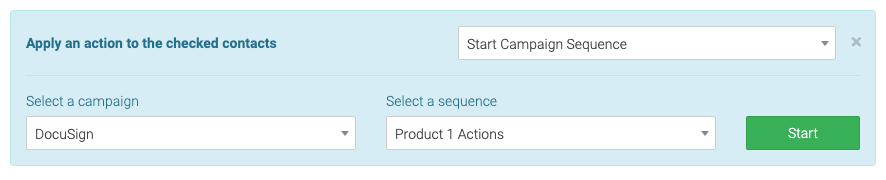 select a campaign and sequence
