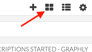 Arrow pointing to board icon