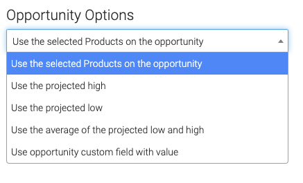 Opportunity revenue options